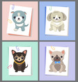 papers with dogs images set vector image