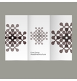 pattern flyer with abstract figures vector image