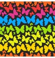 Seamless pattern with colorful rainbow butterflies vector image