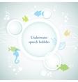 Underwater speech bubbles vector image