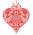 valentine ornamental heart vector image vector image