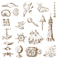 Nautical Sea Design Elements vector image