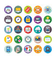 seo and digital marketing icons 3 vector image