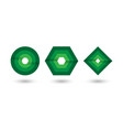 abstract green geometric infinite loop icon set vector image