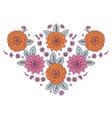 Neckline Woman Floral vector image vector image