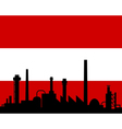 industry and flag of austria vector image