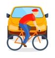 Sad running man at road death accident scene vector image