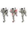 Muay Thai 2 vector image vector image