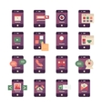 Mobile Application Icons vector image
