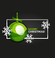 christmas and new year banner card christmas vector image