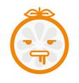 emoji - crazy orange isolated vector image