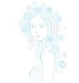 Fantasy snowflake maiden vector image