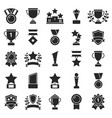 monochrome pictures set of winner cups and sport vector image