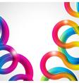 Rainbow curls vector image