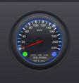 speedometer black speed gauge classic car vector image