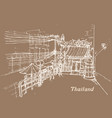 thailand in sketch style hand drawing vector image