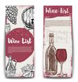 wine list banner templates design elements for vector image