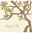 Beautiful blooming tree vector image vector image