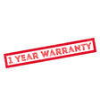 1 year warranty rubber stamp vector image