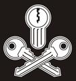 jollyroger lock keys vector image
