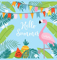 hello summer greeting card invitation vector image vector image