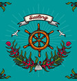 on the theme of sea travel and vector image