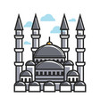 turkey symbol mosque for culture famous travel or vector image