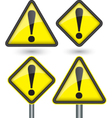Warning sign with exclamation sign vector image vector image