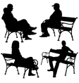 bench people vector image vector image