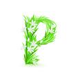 spring flowers alphabet p vector image
