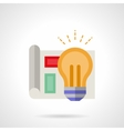Project management flat color icon vector image