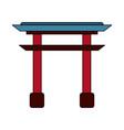 chinese portal symbol vector image