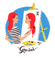 gemini zodiac sign vector image