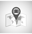 travel concept location map luggage design graphic vector image