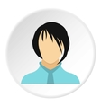 Woman with bangs avatar icon flat style vector image
