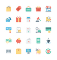 Shopping Flat Colored Icons 1 vector image