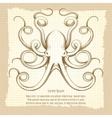 Vintage octopus vector image