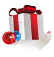 gift and baubles vector image vector image