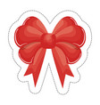 bow ribbon icon vector image