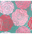 beautiful seamless pattern with roses hand-drawn vector image