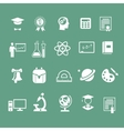school signs icons vector image