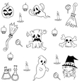 Halloween Element Collection doodle vector image