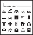 Travel Element Line Icon Set 9City and urban thin vector image
