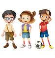 Boys and a girl vector image