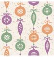 Christmas balls seamless pattern vector image