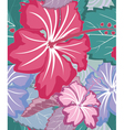 Hibiscus tropical floral seamless pattern vector image