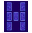 Relationship tarot spread Tarot cards back side vector image