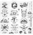 Ski club vector image