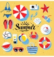 Summertime color vector image
