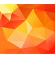Triangle background Orange polygons vector image